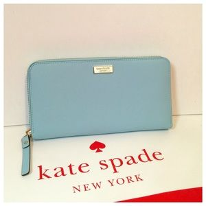 New Kate Spade saffiano leather accordion wallet