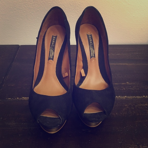 Zara Shoes | Peep Toe Heels | Poshmark