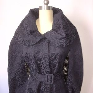 GORGEOUS NAVY COCOON CAPE / COAT