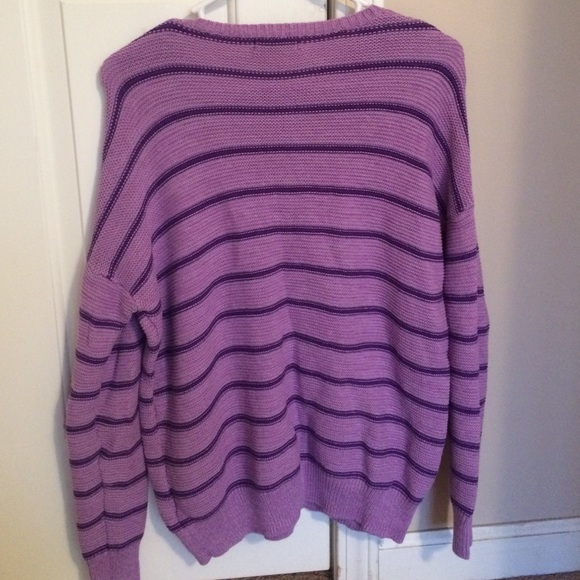 60% off BDG Sweaters - BARELY USED BDG Purple Striped Oversize ...