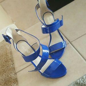 Blue Aldo Sandals w/ ankle strap