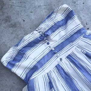 Lucca Couture Dresses - Lucca Couture Blue and White Stripe Summer Dress