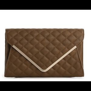 Urban expressions Jolene clutch with strap inside