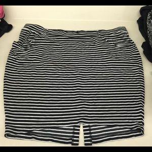 Torrid Stretch Pencil Skirt in Stripes
