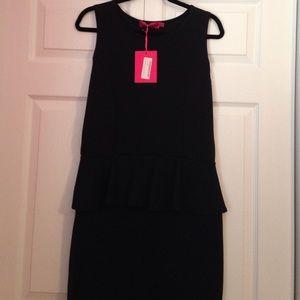 NWT BLACK PEPLUM DRESS