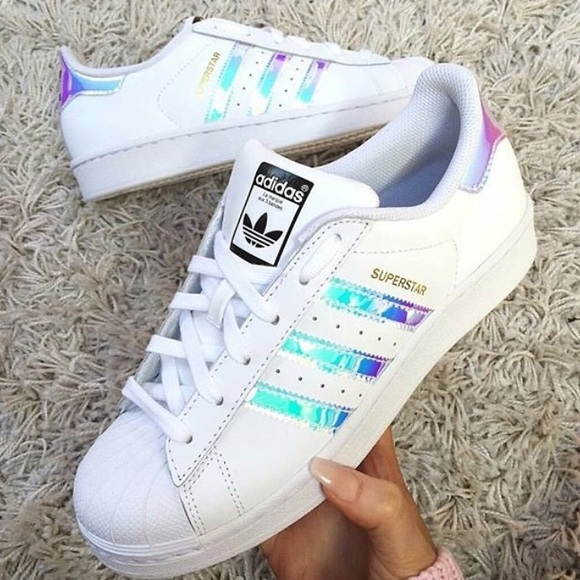 59d9e9c4f95a Sold • 🆕 Adidas Superstar Iridescent Stripe