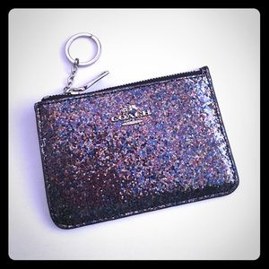 LAST ONE Coach Glitter Collection Key Pouch 65174