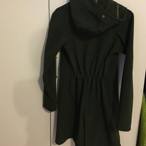 Jackets & Blazers - Dark green lululemon rain jacket