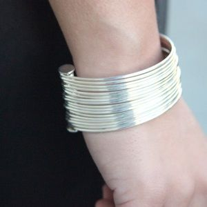Jewelry - Silver Multi Bangle Cuff Bracelet