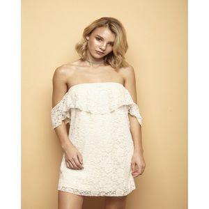 Dresses & Skirts - Cream Lace Off Shoulder Dress
