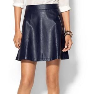 Tinley Road Dresses & Skirts - Tinley Road Navy Vegan Leather Circle Skirt