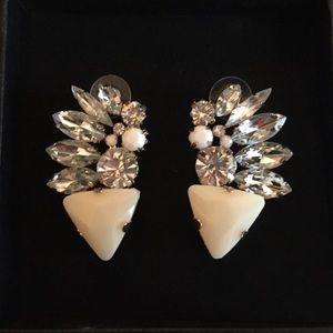 ASOS rhinestone earrings cuffs new in box!