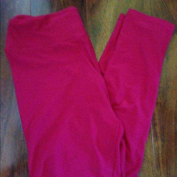 e8add730638bc3 LuLaRoe Pants | Pink Os Leggings Nwt | Poshmark