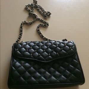 REBECCA MINKOFF Studded Quilted Mini Affair