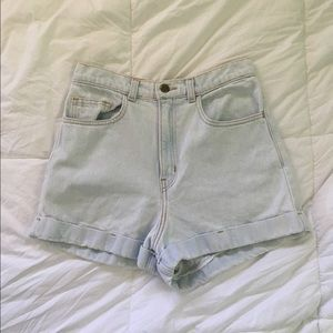 American Apparel Denim HIGHWASTED shorts