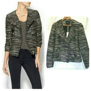Piperlime Jackets & Blazers - HP | Black and White Tweed Jacket | Piperlime