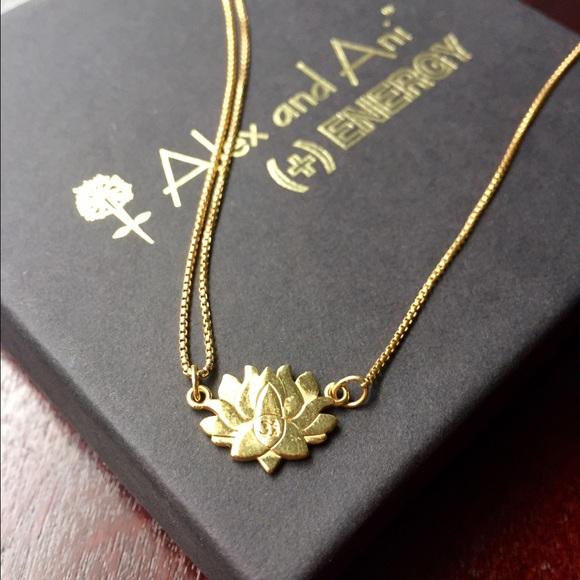 Alex And Ani Jewelry Alex Ani Lotus Necklace Poshmark