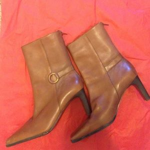 Amanda Smith Shoes - Amanda Smith Brown Leather Boots