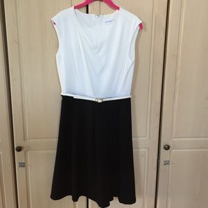 Calvin Klein NWOT Belted Color Block Dress