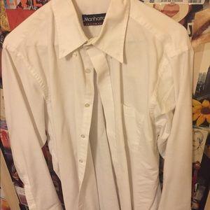 Men's white long sleeve dress shirt