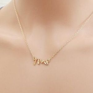 Mrs. Rose gold dainty necklace