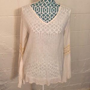 Elan Tops - Cotton Bell Sleeve Top