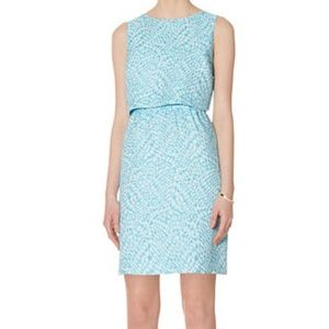 The Limited Teal Crop Top Sheath Dress