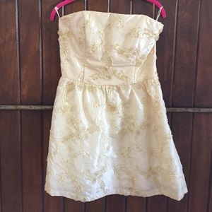 Jessica McClintock For Gunne Sax Gold Accent Dress