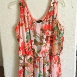 Hi-low spring formal dress