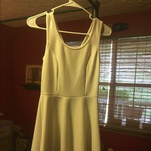 "White dress with ""heart"" keyhole back"
