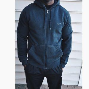 7a74ebdf6809c1 Sold on Depop   Black Nike Zip up Swoosh Jacket ...