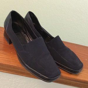 Rangoni Firenze black loafers, size 9.5