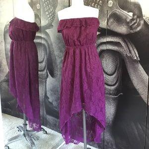Trixxi Dresses & Skirts - Purple Lacy High Low Dress