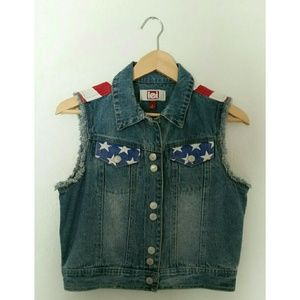 """Lei Jackets & Blazers - """" FINAL PRICE"""" Jean  vest in stars and strifes"""
