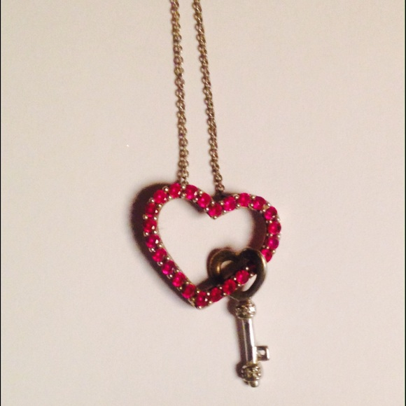 Zales Jewelry Necklaces >> 39% off Zales Jewelry - Beautiful pink diamond heart key necklace from Amber's closet on Poshmark