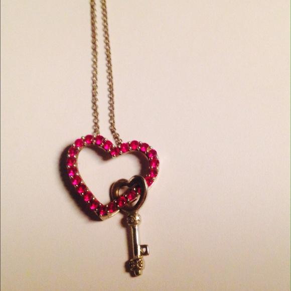 Zales Pink Heart Diamond Necklace
