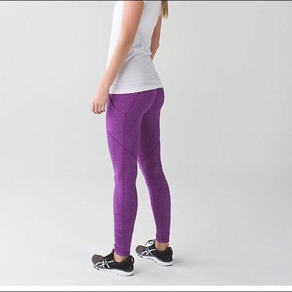 Purple Lululemon Speed Tight with RULU Fabric