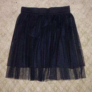 Dresses & Skirts - Black Tulle Party Skirt - Vintage