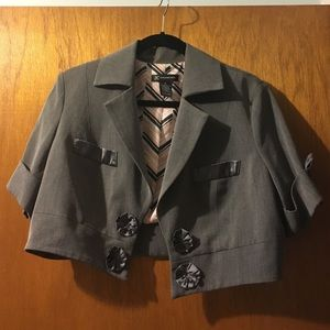 Project Runway COLLECTABLE Gray Cropped Blazer
