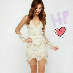 👗HP 4/17!  For Love & Lemons Inspired Ivory Dress