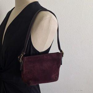 Coach purple mini bag