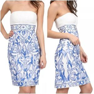 Sue Wong Dresses & Skirts - SUE WONG BLUE & IVORY DRESS ~ NWT