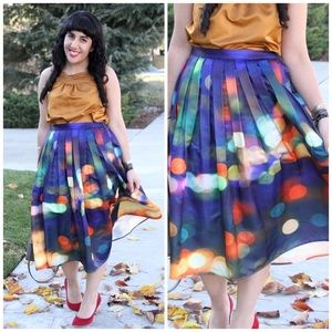 Chicwish Dresses & Skirts - Chicwish Neon Light Pleated Midi Skirt