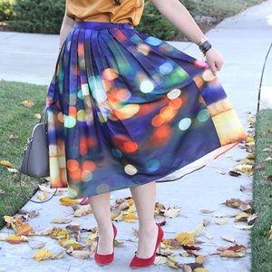 Chicwish Dresses & Skirts - Chicwish Neon Light Pleated Midi Skirt