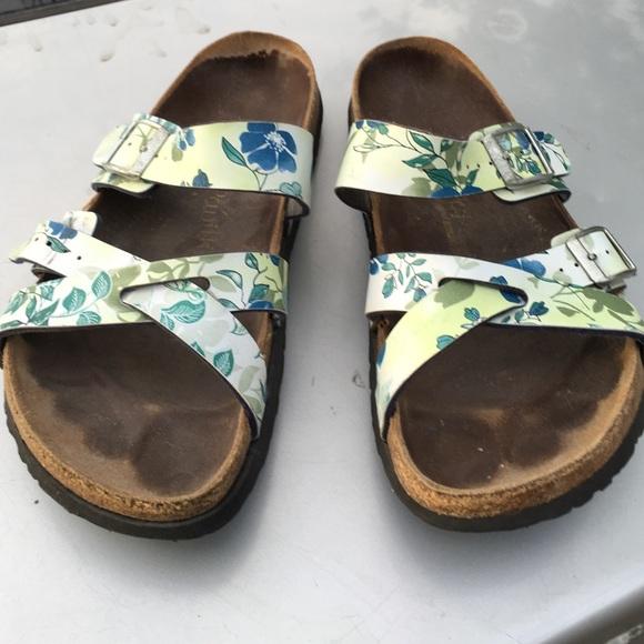 Excellent Sandals BIRKENSTOCK 204201 Gizeh Floral Paisley Rose  EscapeShoes