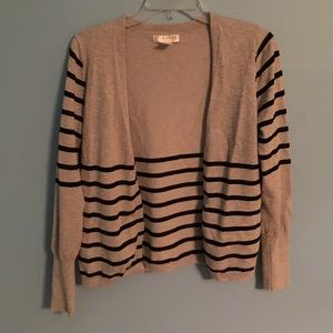 Kenar Sweaters - Gray and black striped cardigan