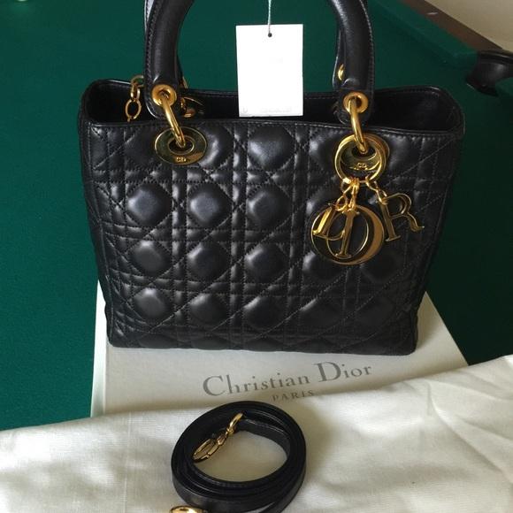 Dior Handbags - Christian Dior Authentic Lady Dior Handbag 39b2bc3c6f4cb