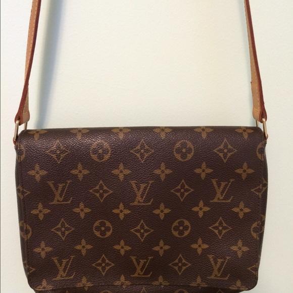 1b335718e417 Louis Vuitton Handbags - Louis Vuitton Monogram Musette Tango w  long strap