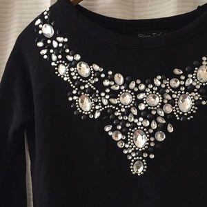 River Island Tops - bejeweled sweatshirt top!
