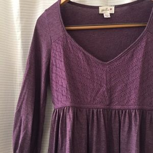 Anthropologie Tops - purple ANTHRO peasant blouse